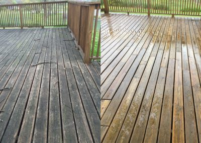 Wooden Deck Pressure Washing