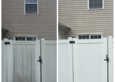 Plastic Fence Pressure Washing